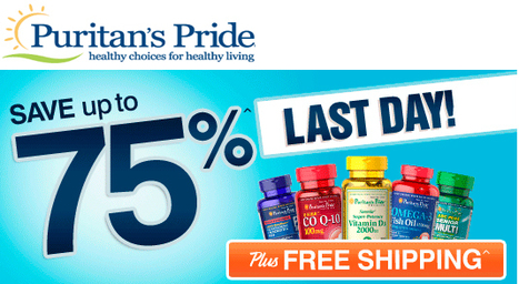 Puritan's pride 70% off sale | Online shopper's Blog | Scoop.it