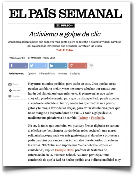 Analizando el clicktivismo / Enrique Dans   Comunicación en la era digital   Scoop.it