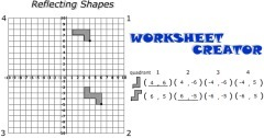 Reflect Shapes Worksheet Creater | Mathzlinks | Scoop.it