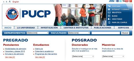 PUCP es la universidad privada con mayor tamaño de Web en América Latina según Scimago Web Visibility Rankings | Economía y Ciencias Sociales | Scoop.it