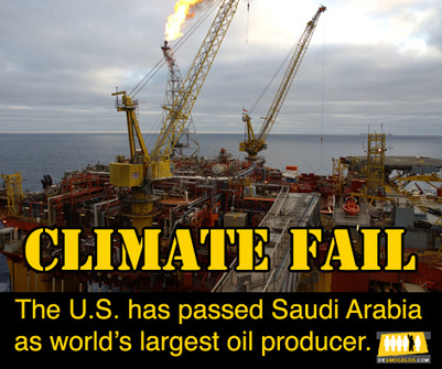 #Climate Failure: U.S. Passes Saudi Arabia As World's Largest Oil producer | Messenger for mother Earth | Scoop.it