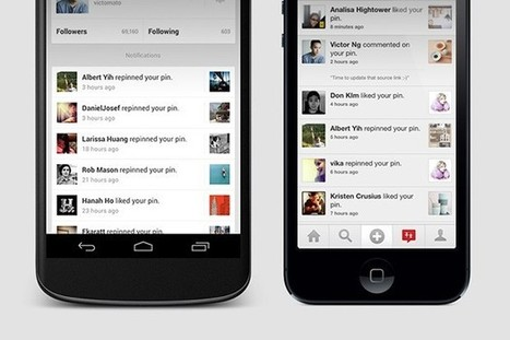 Pinterest adds notifications, search suggestions to Android and iOS apps | Aprendiendo a Distancia | Scoop.it