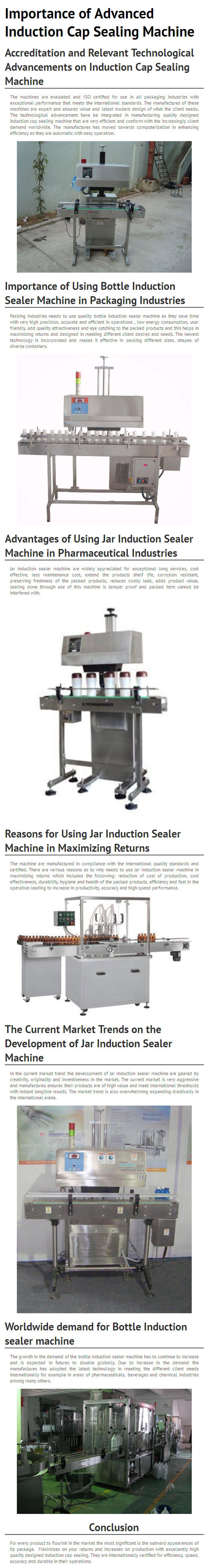 Importance of Advanced Induction Cap Sealing Machine - www.multipackmachinery.com | Shrink Tunnel | Scoop.it
