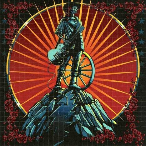 BLOTTER ART: Minuteman by Richard Biffle,  homage to Rick Griffin for the Dead 2009 Tour | Blotter Art | Scoop.it