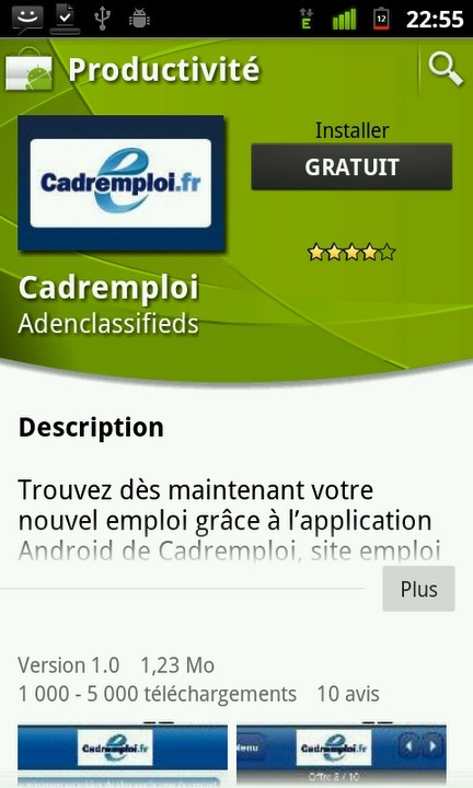 Cadremploi sort son application Android | Application Android | Scoop.it