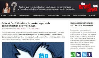 150 twittos du marketing et de la communication à suivre en 2015 (par @HerveMonier) | Ressources communication et marketing | Scoop.it