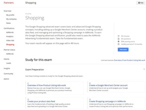 Google Partners Adds Certification For Shopping Campaigns | Comparison Shopping | Scoop.it