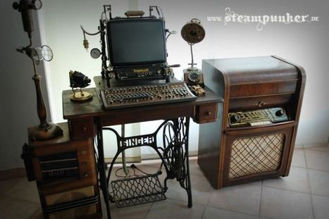 This Awesome Steampunk Computer Was Build on Top of an Old Sewing Machine | All Geeks | Scoop.it