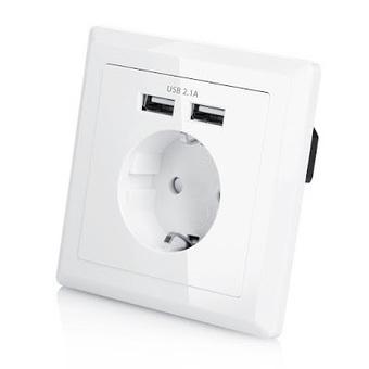 Tomada de parede com 2 fichas USB por €17 | Security and Privacy | Scoop.it
