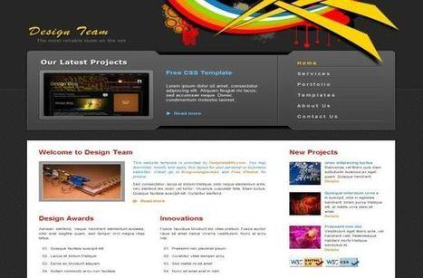Design Agency Vector Grey CSS Website Template   Newbie   Scoop.it