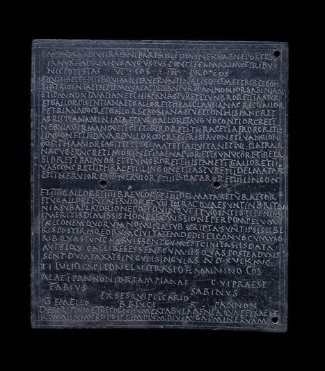 Military Diploma Dated 17th July AD 122 | Roma Antiqua | Scoop.it