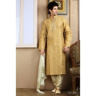 Beige Pintex Kurta Pajama |Buy Men Kurtas Online | Nice one | Scoop.it