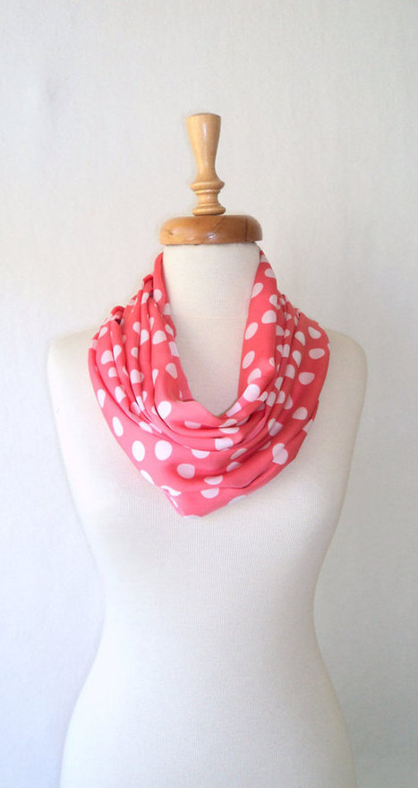ON SALE, Silk Satin Scarf ,Loop Scarf ,Spring Scarf ,İnfinity Scarf, Dotto Scarf, Gift, Pink Scarf | bestbazaar | Scoop.it