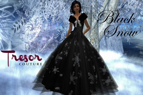 Black Snow Dress by Tresor Couture | Teleport Hub | Monte Carlo Style | Scoop.it