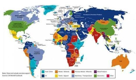 The map of the world that shows every country's major export | Governance, Business ethics and Sustainability | Scoop.it