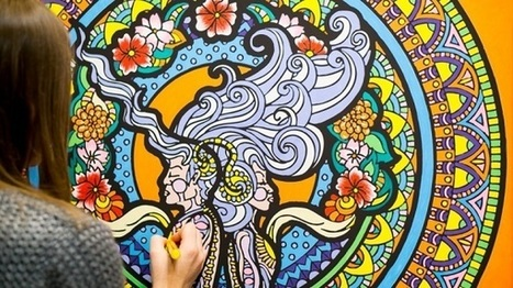 If Adult Coloring Books Are Becoming Too Mainstream, Try Coloring Wall Art | #Design | Scoop.it