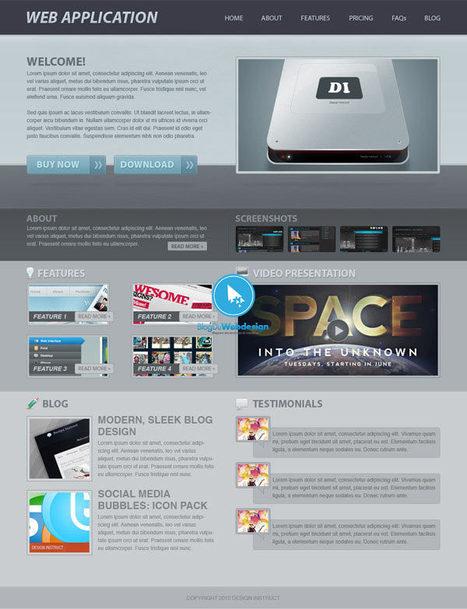 10 Tutoriaux pour créer un webdesign de qualité sur Photoshop - tutoriels | photoshop ressources | Scoop.it