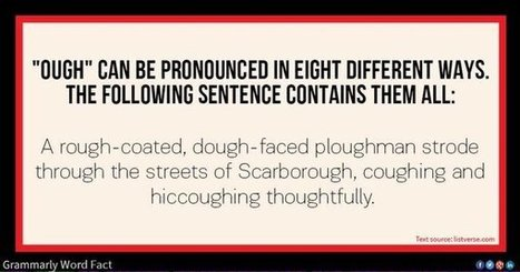 Video: I Love Lucy - Pronouncing 'ough' in English | Teaching (EFL & other teaching-learning related issues) | Scoop.it