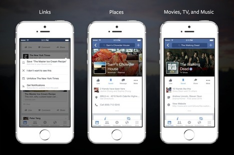 Facebook Introduces the Ability to Save Links, Places, Movies, and More to Check Out Later | Mediawijsheid bibliotheken | Scoop.it