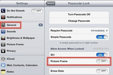 Disable the Picture Frame Button from the iPad Lock Screen   iPads, MakerEd and More  in Education   Scoop.it