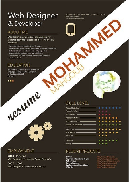 20 Creative Resume Designs Which Will Amaze Any Potential Employer | Creative Nerds | Infographics Galore | Scoop.it