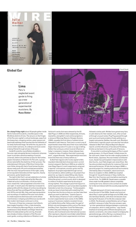 [Pauchi Sasaki] Article on UNDERGROUND Music in Lima Published in The Wire | Le BONHEUR comme indice d'épanouissement social et économique. | Scoop.it