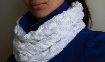 White Cabled Cowl | Spinning, Weaving and Knitting | Scoop.it