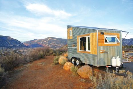 "Tiny house, tiny footprint: Recycled materials boost the appeal (""put man in limited place in nature"") 