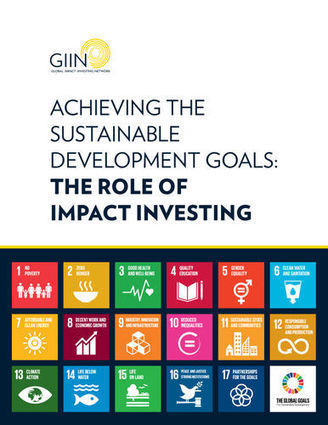 Achieving the Sustainable Development Goals: The Role of Impact Investing | The GIIN | Social Finance Matters (investing and business models for good) | Scoop.it