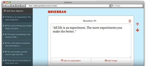 "QuizBean | Quickly Create Online Quizzes For Free - Assessment For Learning - Know if your students ""get it"" before you move on 