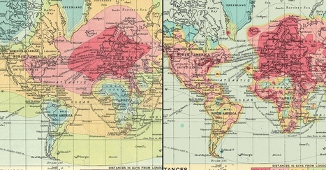 A 2016 take on a century-old map shows changes in travel over time. | Mr Tony's Geography Stuff | Scoop.it