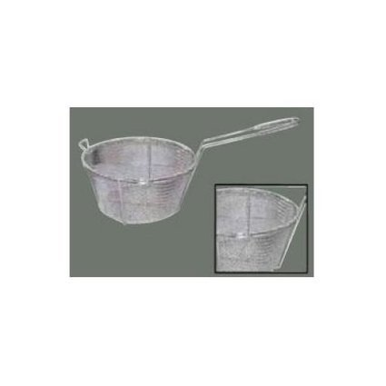 Round Wire Fry Basket, 8.5'' x 4.25'', 6 Mesh | Crimped wire mesh manufacturer | Scoop.it