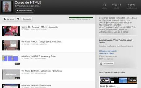Vídeo curso de HTML5 gratuito y en castellano | Vulbus Incognita Magazine | Scoop.it