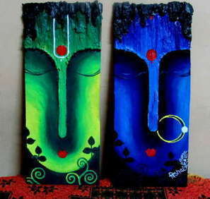 Radha Krishna - Painting | Vishal Garg | Touchtalent | Radha Krishna | Scoop.it