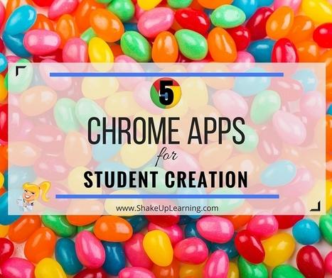 5 Applicazioni Chrome per la creazione di contenuti in ambito educativo - 5 Chrome Apps for Student Creation   Shake Up Learning   FRANCAIS FLE   Scoop.it