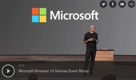 Everything You Need To Know From Microsoft's Massive Hardware Event | TechCrunch | Social Media in Manufacturing Today | Scoop.it