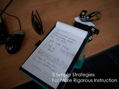 3 Simple Strategies For More Rigorous Instruction | Communication design | Scoop.it