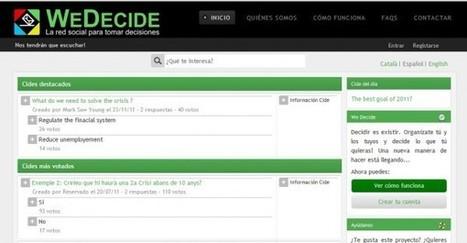 Wedecide – Nuevo sistema para tomar decisiones en grupo | EDUDIARI 2.0 DE jluisbloc | Scoop.it