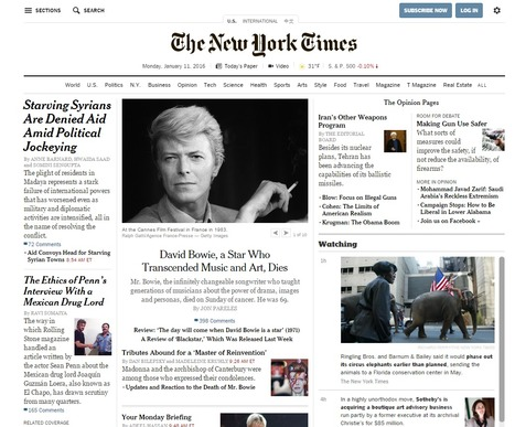New York Times: The homepage still plays a prominent role | Webortash | Scoop.it