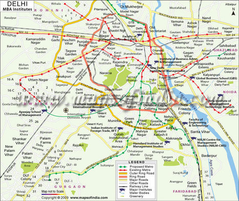 MBA Colleges in Delhi, Top B Schools in Delhi - Maps of India   Institute in delhi   Scoop.it