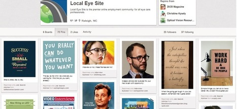 Pinterest and the Eye Care Industry | Social Media for Optometry | Scoop.it