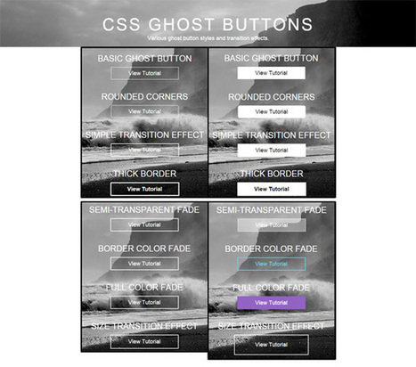Ghost Buttons – A Current and Popular Trend #websitedesign | WebsiteDesign | Scoop.it