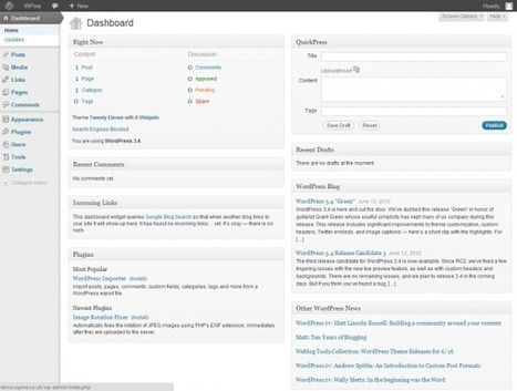 Understanding and Customising the WordPress Dashboard | Business 2 Community | Tips on blog writing | Scoop.it