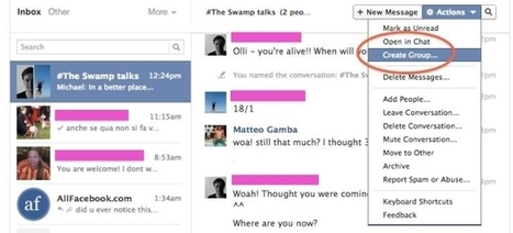 Can Facebook Users Create Groups Made Up Of Participants In Group Chats? | Digital-News on Scoop.it today | Scoop.it