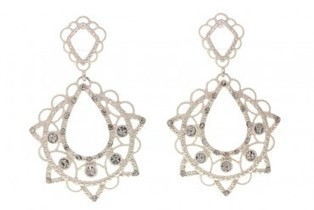 Clear Crystal Matte Silver Tone Earrings | photography | Scoop.it