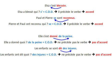 Accord du participe passé des verbes pronominaux | FLE | Scoop.it