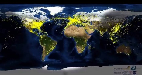 Air Traffic Around the World Visualized | Tout sur le Tourisme | Scoop.it