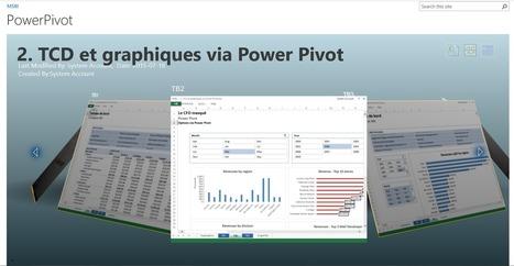 Découvrez le team BI avec Power Pivot pour Sharepoint (1 de 2) | Intelligence d'affaires | Scoop.it