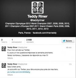 Teddy Riner débarque sur Twitter | Sweat and balls | Insolites | Scoop.it
