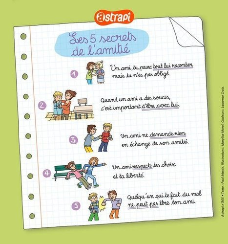 L'amitié  @AstrapiMagazine | FLE enfants | Scoop.it